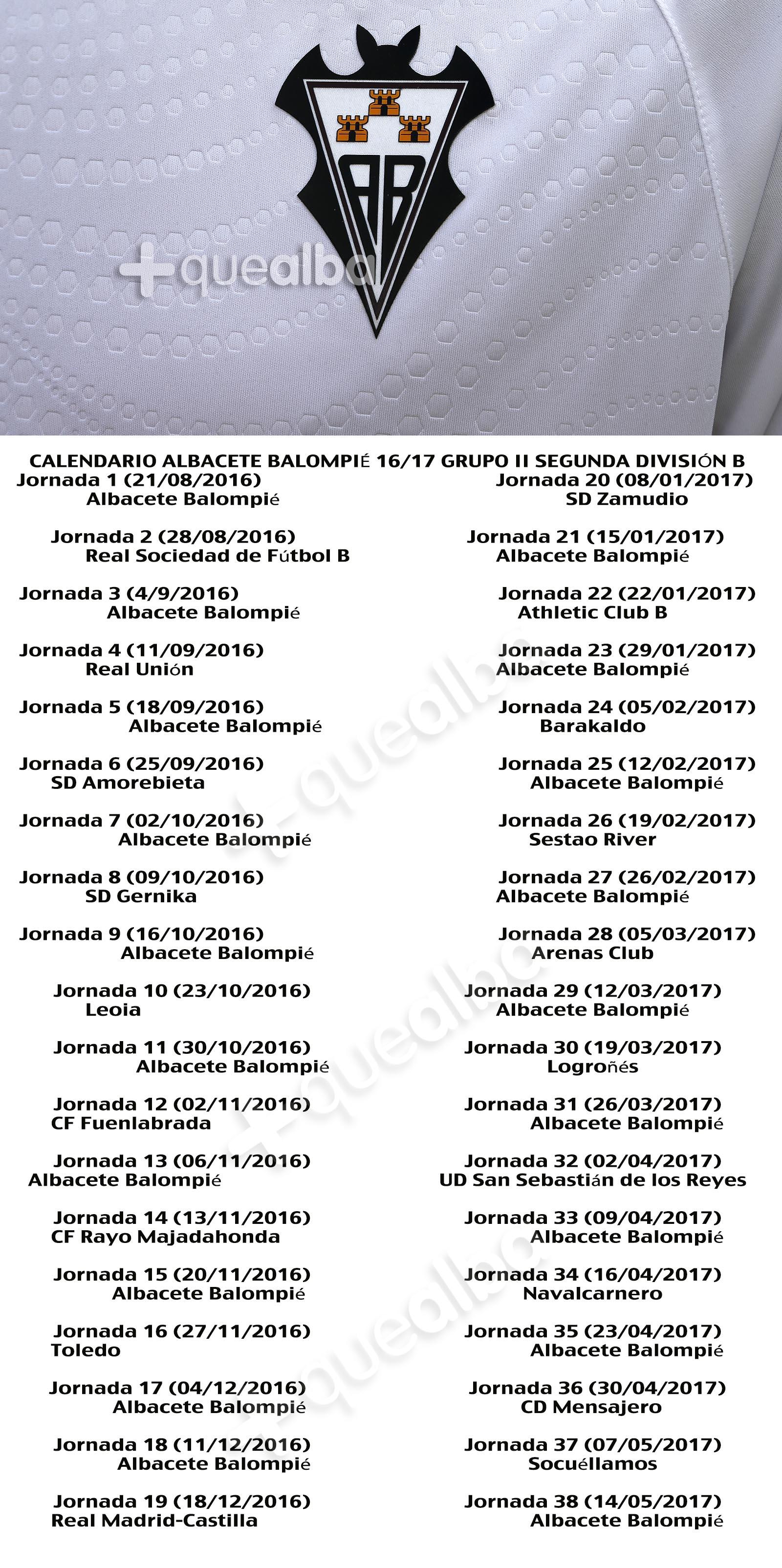 Albacete Balompie Calendario.Ya Se Conoce El Calendario Del Albacete Balompie