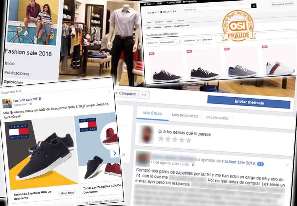 ff49c79956 Ojo con los timos en Facebook con descuentos fraudulentos en marcas de ropa  y calzado
