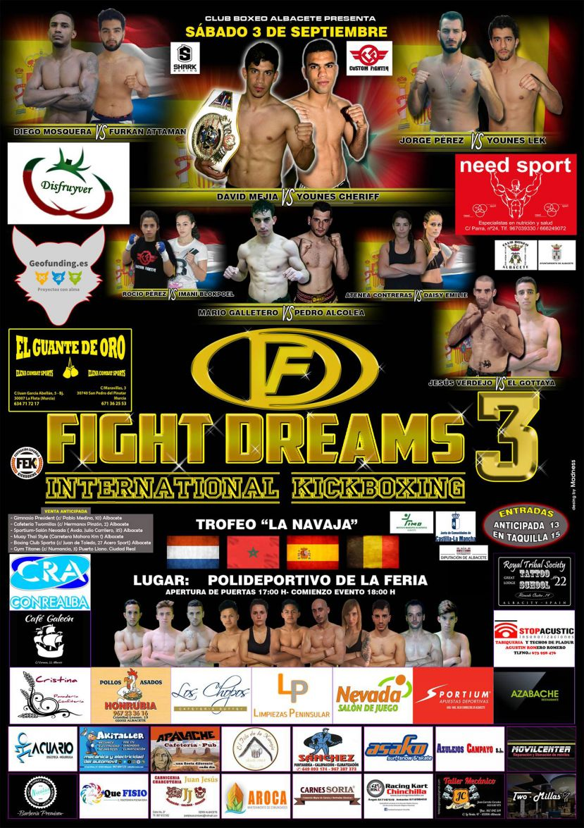 "TROFEO INTERNACIONAL DE KICK BOXING ""LA NAVAJA"" , FIGHT DREAMS 3"