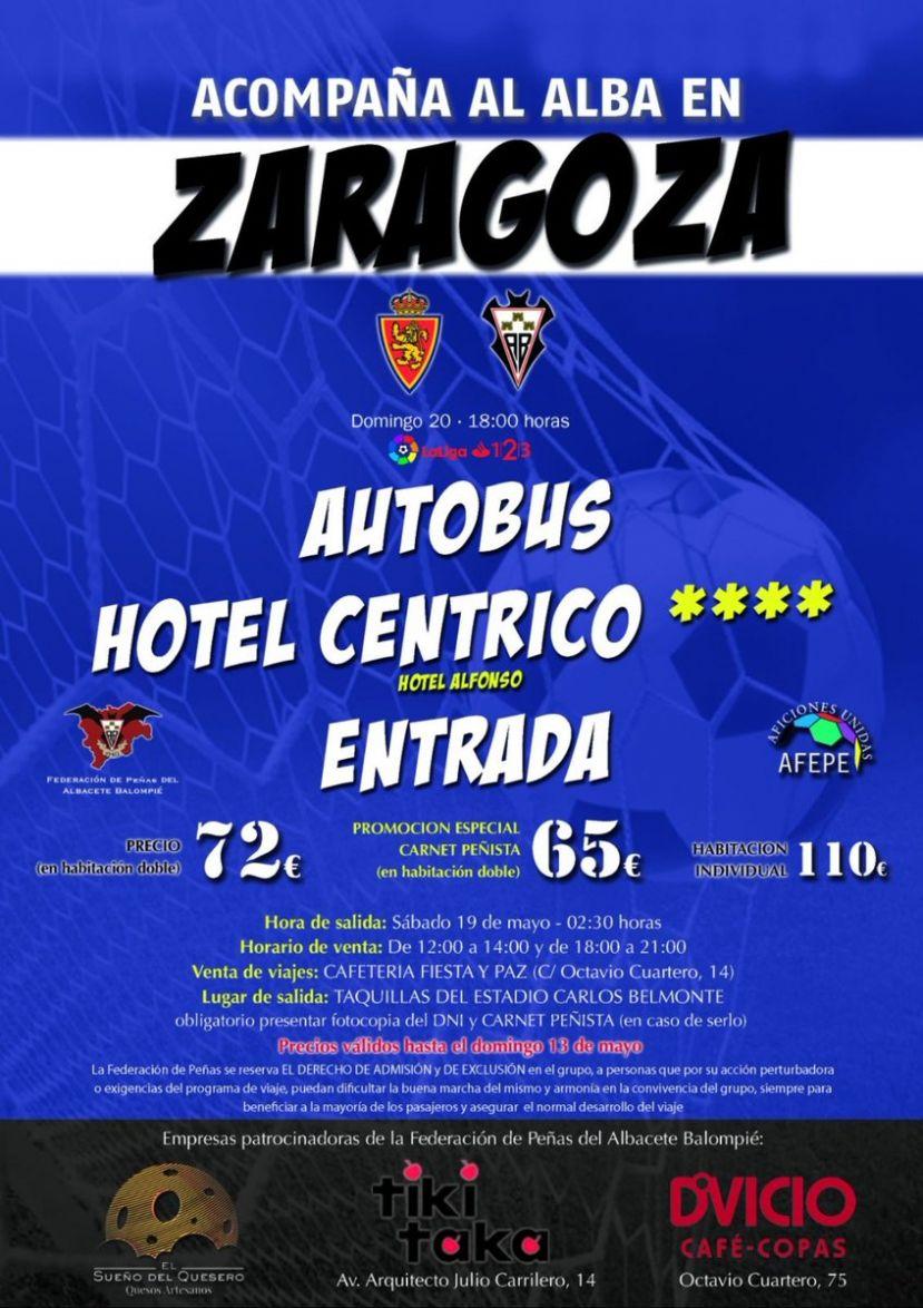 Las Peñas del Albacete organizan viaje a Zaragoza b12b4aeec8bad