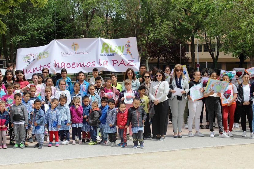 El colegio diocesano de albacete marcha por la paz - Jefatura provincial de trafico de albacete ...