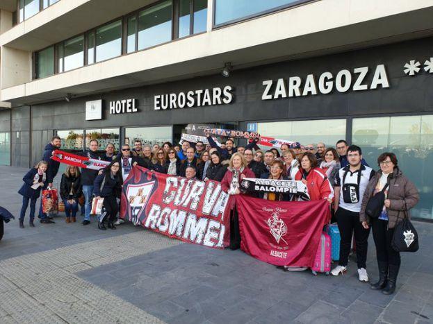 La Peña Curva Rommel ya está en Zaragoza - Masquealba.com