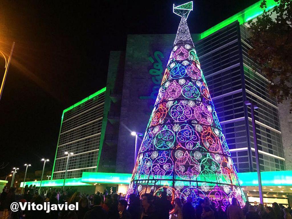 Ya es navidad en albacete ya est encendido el rbol del - Arbol de navidad en ingles ...
